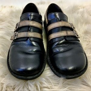 Naot Black and Cream Leather Comfort Shoes 9.5